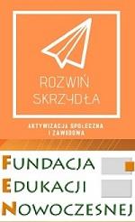 Logo projektu Rozwiń skrzydła - aktywizacja społeczna i zawodowa Fundacja Edukacji Nowoczesnej