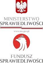 Logo Ministerstwo Sprawiedliwości Fundusz Sprawiedliwości